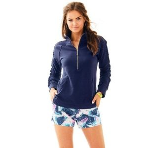 Lilly Pulitzer Skipper Popover Solid Lace Navy XL